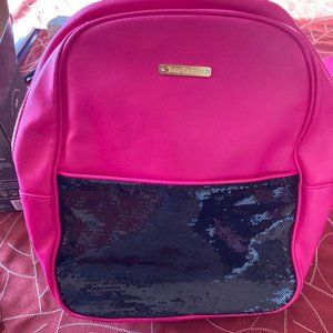 Juicy couture pink sequin backpack